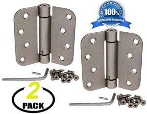 """Contractor Pack US15 Brushed Satin Nickel 4/"""" X 4/"""" Square Door Hinge"""
